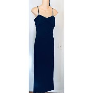 RALPH LAUREN Deep Navy Blue Gown